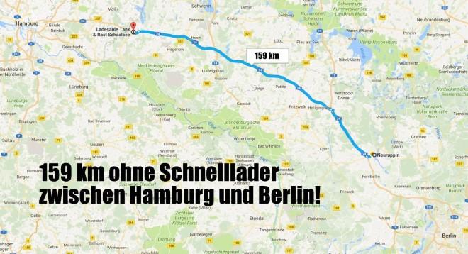 schnelllader Infrastruktur zwischen hamburg und berlin