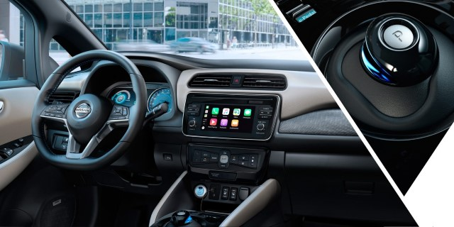Nissan Leaf 2018 neu cockpit schaltung