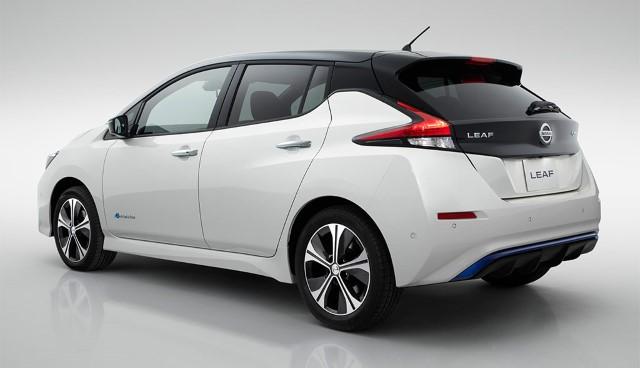 Nissan Leaf 2018 neu schräg hinten
