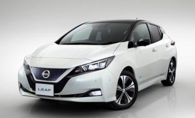 Nissan Leaf 2018 neu schräg vorne weiss