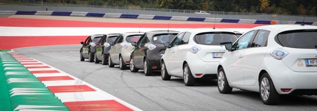 Krone E-Mobility Play Days Spielberg Red Bull Ring Rennstrecke Renault Zoe club Elektroauto convoy