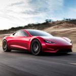 Tesla Roadster 2020 rot driving