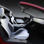 Tesla Roadster 2020 rot innenraum