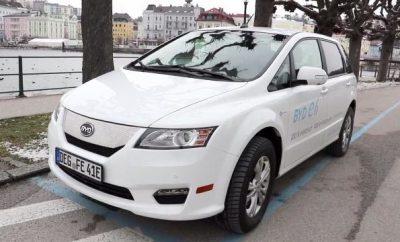 BYD e6 weiss Oesterreich Deutschland Fenecon ecario elektroauto e-auto vorne front