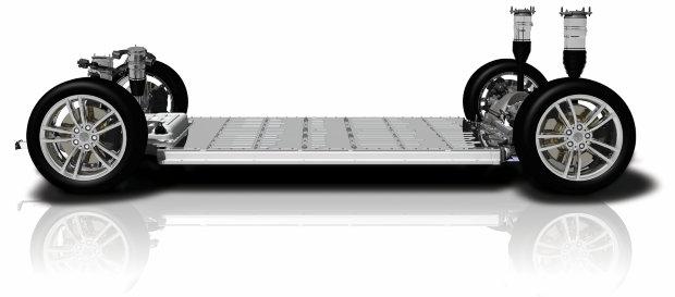 Tesla Model S Platform Schmatische Darstellung Batterypack Technik