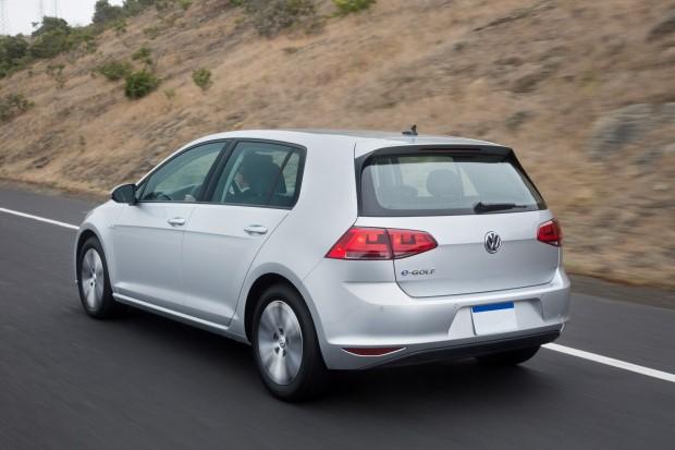 VW e-Golf Heck hinten