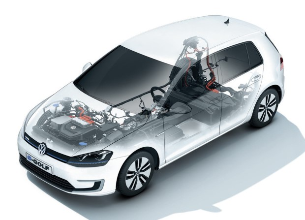 VW e-Golf Technik transparent