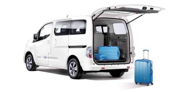 Nissan e-NV200 evalia laderaum
