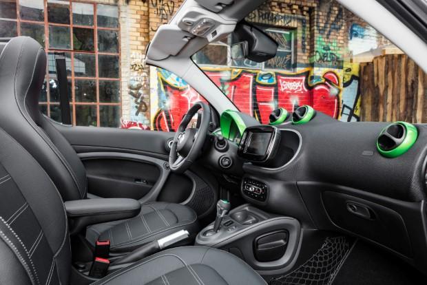 Smart fortwo cabrio electric drive innenraum