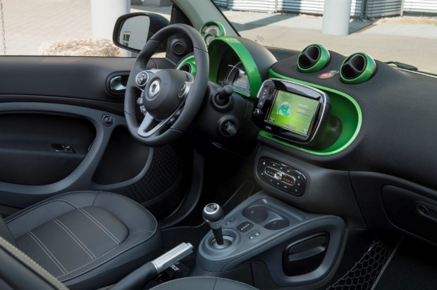 Smart fortwo electric drive innenraum