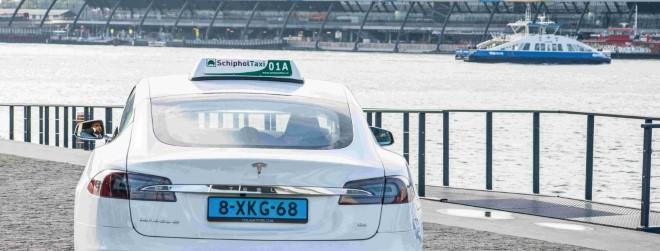 Schiphol Tesla model s taxi WSED