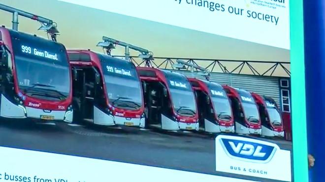 VDL Oberleitung Panthograph Elektrobus
