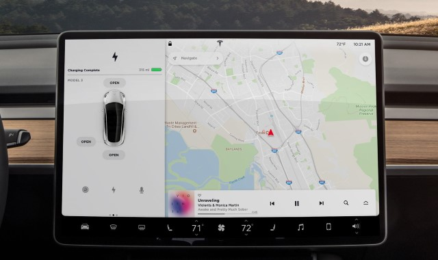 tesla model 3 bildschirm monitor rendering