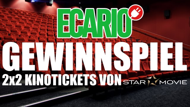 Gewinnspiel Ecario Starmovie Kinoticket (Andere) E-Auto beim Kino laden
