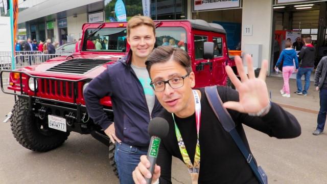 Markus Kreisel bei den Play Days hummer schwarzenegger elektrisch elektrifiziert elektroauto elektromobilität e-auto