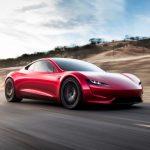 Tesla Roadster 2020 rot driving