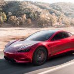 Tesla Roadster 2020 rot seite