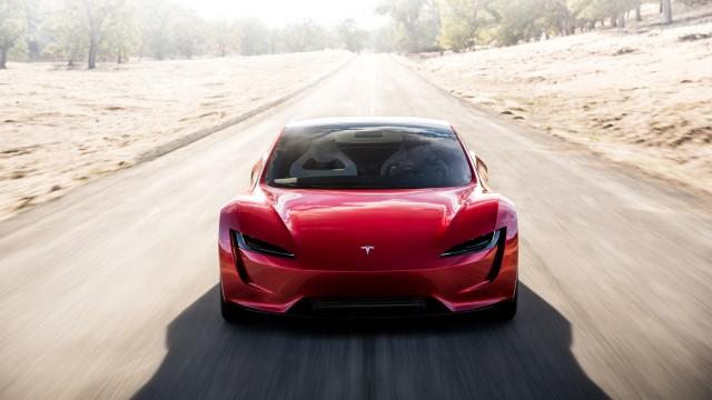 Tesla Roadster 2020 rot vorne