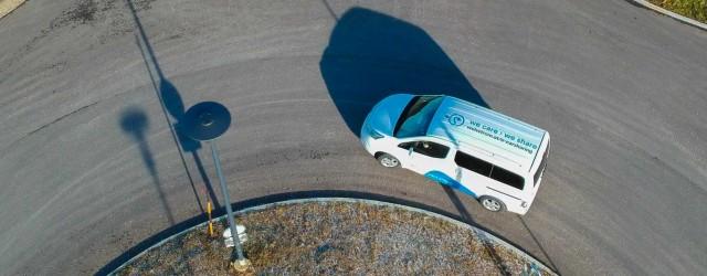 e-nv200 nissan evalia e-carsharing carsharing wels welsstrom elektroauto elektrovan e-auto drohne dji weiss