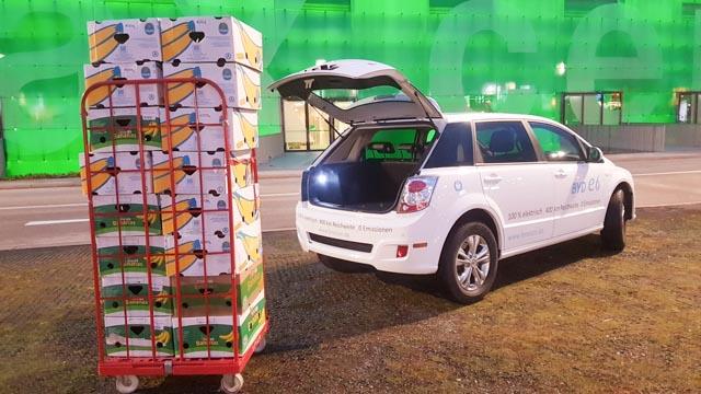 BYD e6 weiss Oesterreich Deutschland Fenecon ecario elektroauto e-auto kofferraum cargo ladekapazitaet laderaum volumen