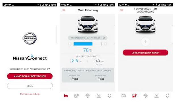 Nissan Leaf 2 App Nissanconnect Connect EV smartphone