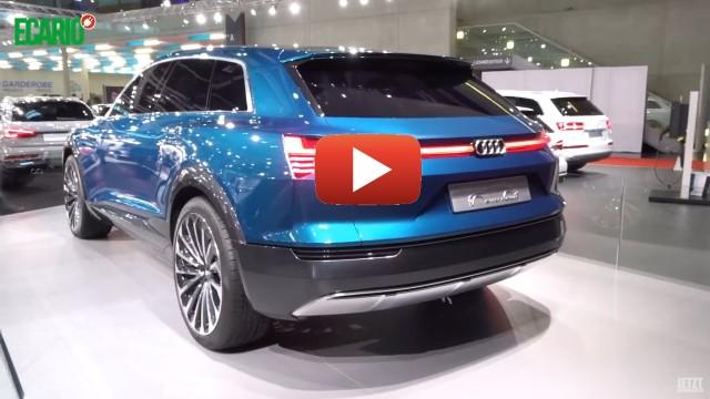 Audi etron blau hinten vienna autoshow