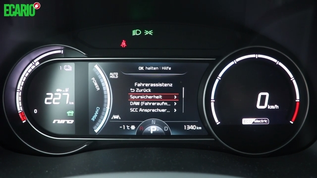 Kia e-Niro Tachometer Armaturen Display