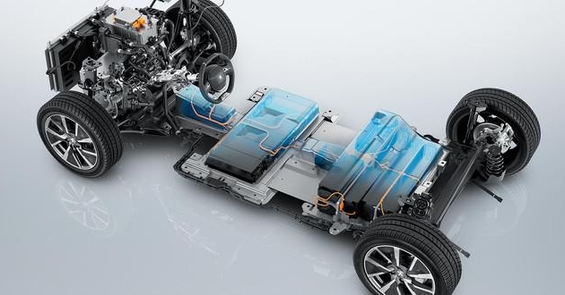 Peugeot e-208 explosionszeichnung technik akku aufbau