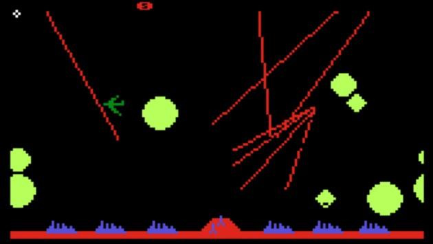 Atari-Missile-Command-spaß mit dem tesla model 3