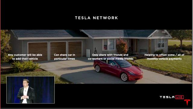 Tesla network carsharing
