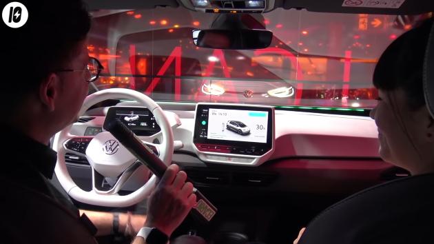 Volkswagen ID.3 innenraum armaturen display ladestand anzeige