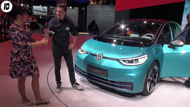 Volkswagen ID.3 vorne grün iaa