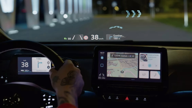 Volkswagen ID.3 HUD head up display augmented reality