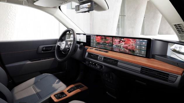 honda e monitor instrumente display innenraum infotainment multimedia screen