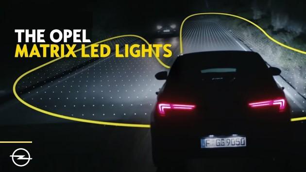 Opel intelliLux matrix led lights