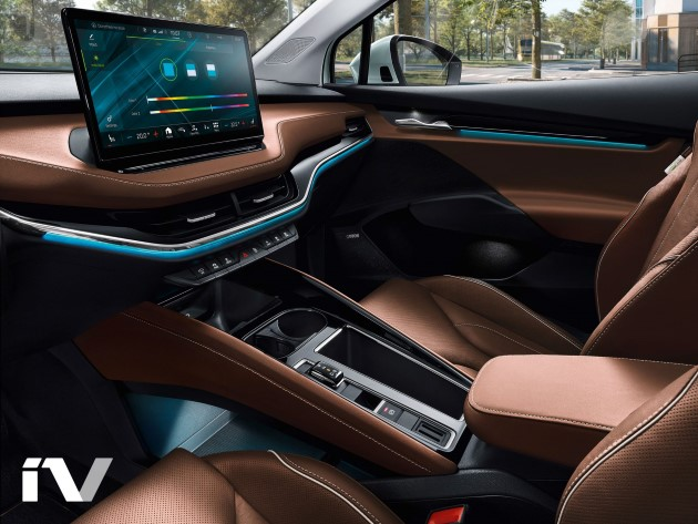 Škoda Enyaq iV cockpit edel leder mittelraumkonsole display