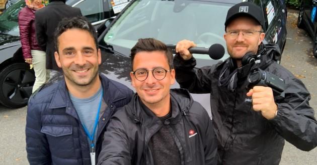 E-Cannonball 2020 Berlin Moers Team Aiways-Ecario Selfie