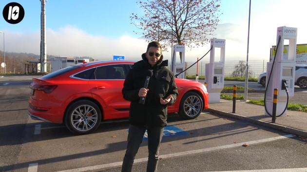 Audi etron sportback 50 quattro laden ladeleistung ladestation