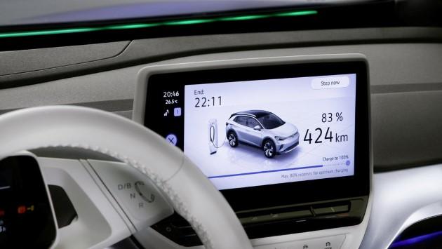 Volkswagen ID.4 ladebildschirm ladescreen display cockpit