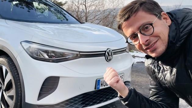 Volkswagen ID.4 weiß front seitlich ecario wolfgang