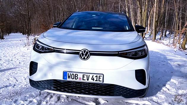 Volkswagen ID.4 weiß front vorne